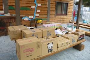 集まった支援物資