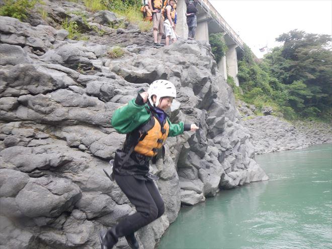 富士ジャンプ 岩 飛び込み