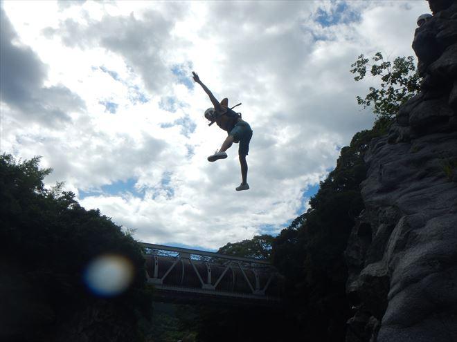 飛び込み 晴天富士川
