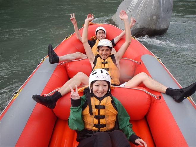 富士ラフティング 川遊び