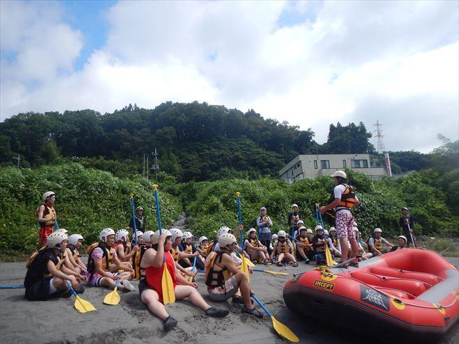 静岡ラフティング ゴムボート