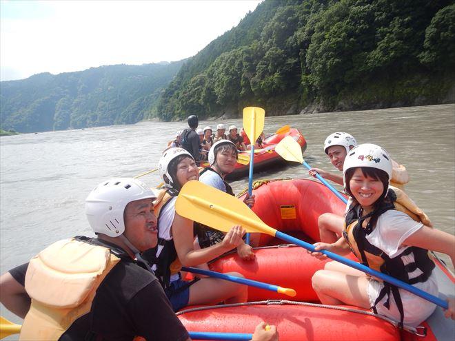 夏遊び 富士川ラフティング