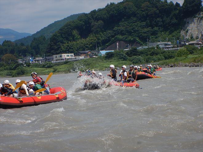 静岡ラフティング 増水