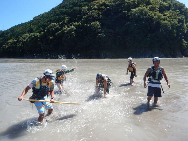 静岡 富士川 川遊び
