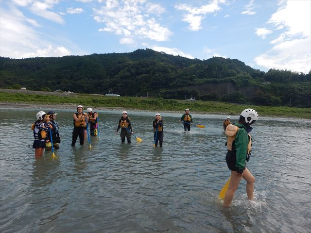 富士川 川遊び