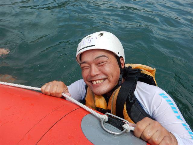 笑顔 水遊び
