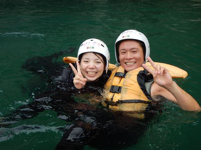 静岡 川遊び カップル