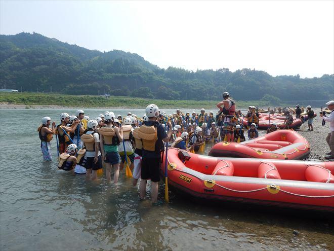 ラフティング 夏 富士川