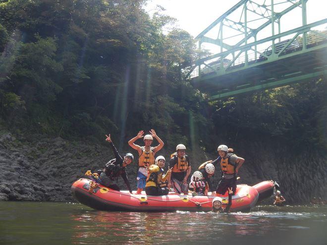 ラフティング 富士川 写真