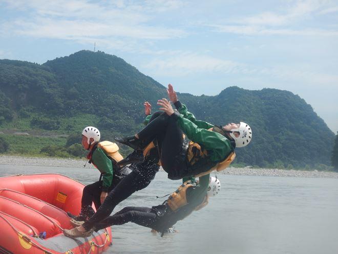 ラフティング 富士川 遊び