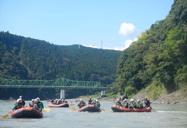 半日ラフティング 富士川