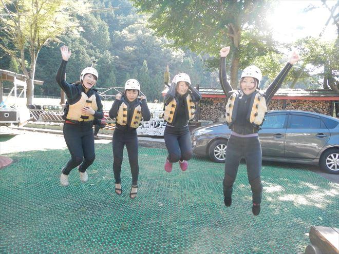 10月ラフティング 静岡
