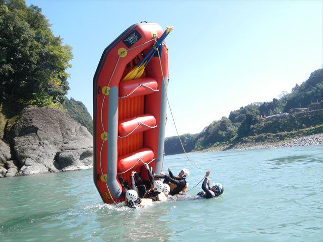 富士川ラフティング ボートゲーム