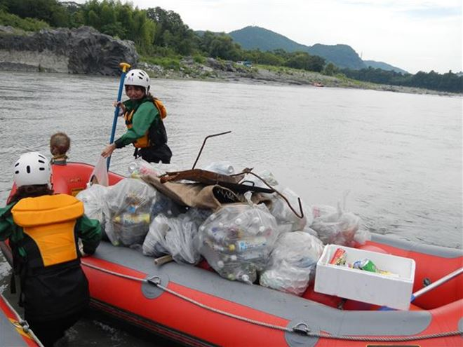 ラフティング ゴミ拾い ボランティア