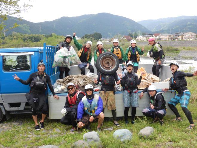 静岡 富士川 清掃活動