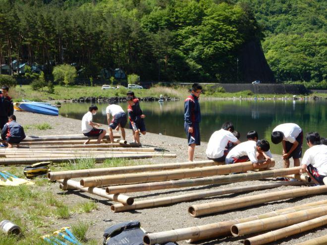 いかだ 静岡 教育旅行