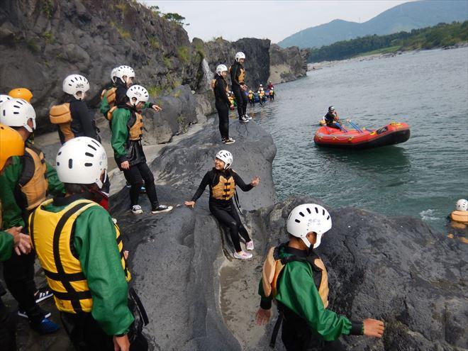 ロックジャンプ 岩 飛び込み