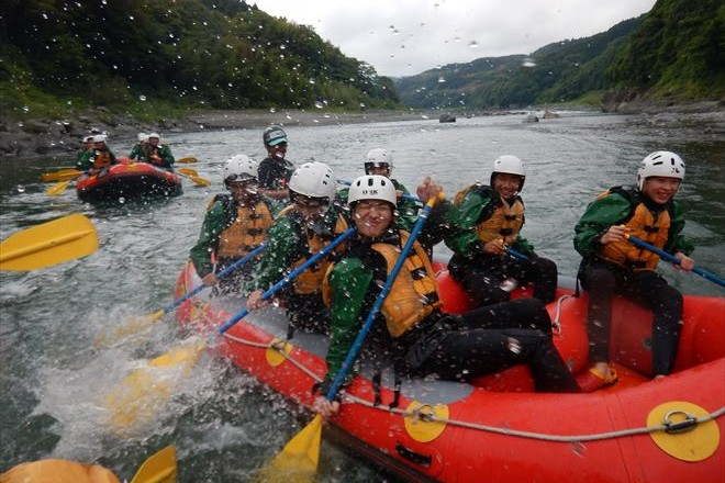 水かけ パドル 半日教育旅行