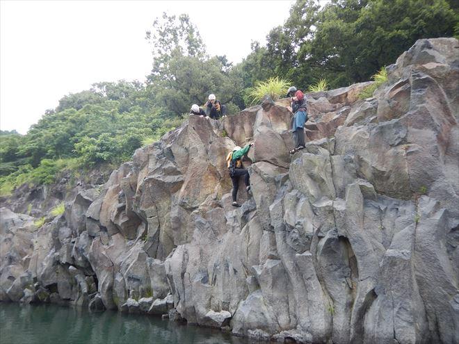 ロッククライミング 岩登り 富士山の溶岩