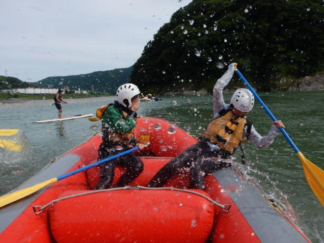 富士ラフティング 水遊び