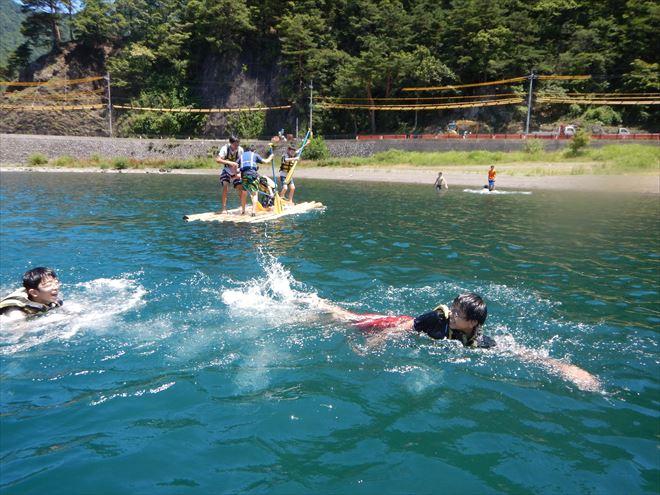 教育旅行半日体験 静岡 湖泳ぎ