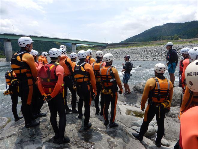 静岡 富士川 救助訓練