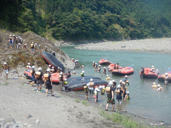 静岡ファミリーラフティング 半日ラフティング ボート遊び
