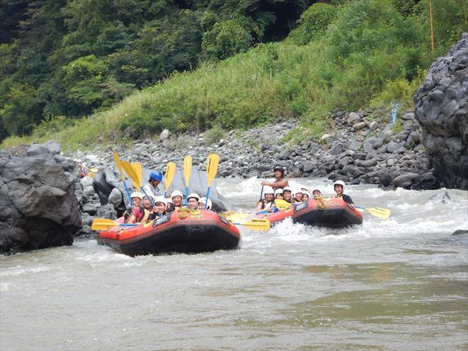 富士川 日本三大急流 釜口の瀬