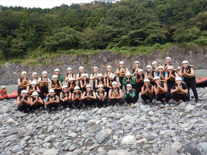 静岡団体ラフティング 半日修学旅行