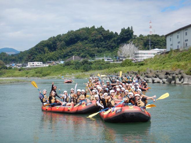 静岡ラフティング 半日コース 団体ラフティング
