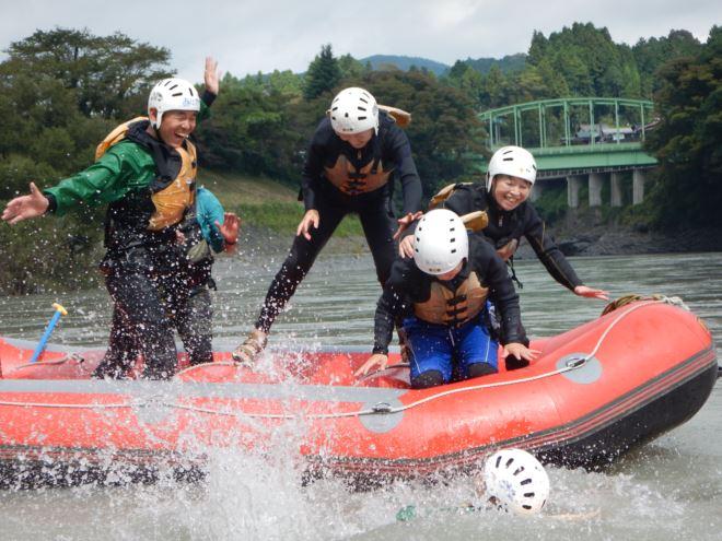 富士川1日遊び 静岡ラフティング 半日ラフティング