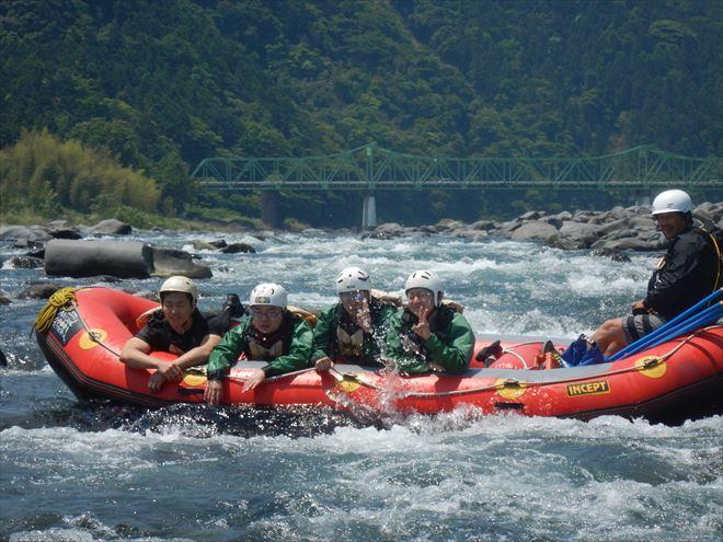 静岡急流下り 川遊び