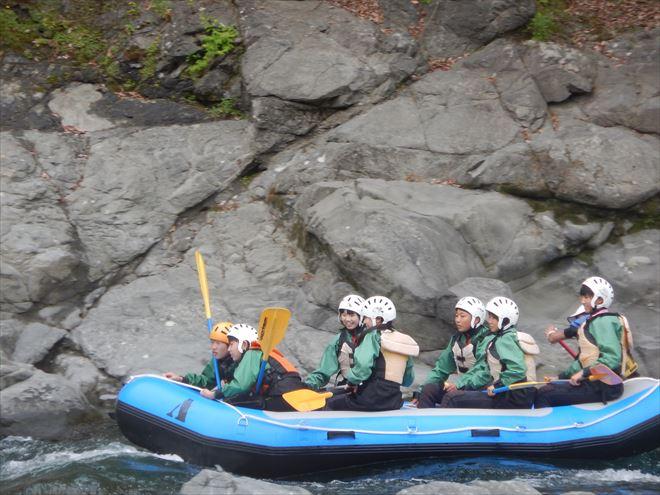 青いボート 静岡教育旅行