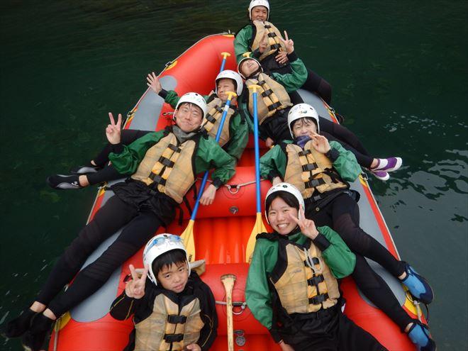 GW川遊び 半日ラフティング