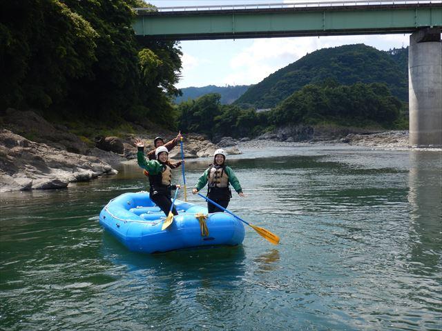 富士川 ラフティング楽しい