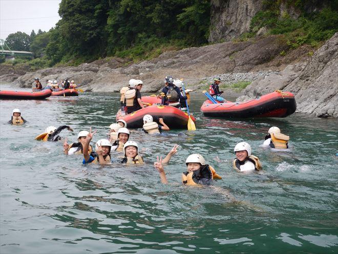 自然体験富士川 富士川で学ぶ