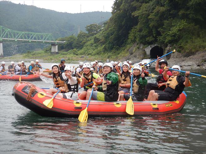 静岡教育旅行 半日ラフティング