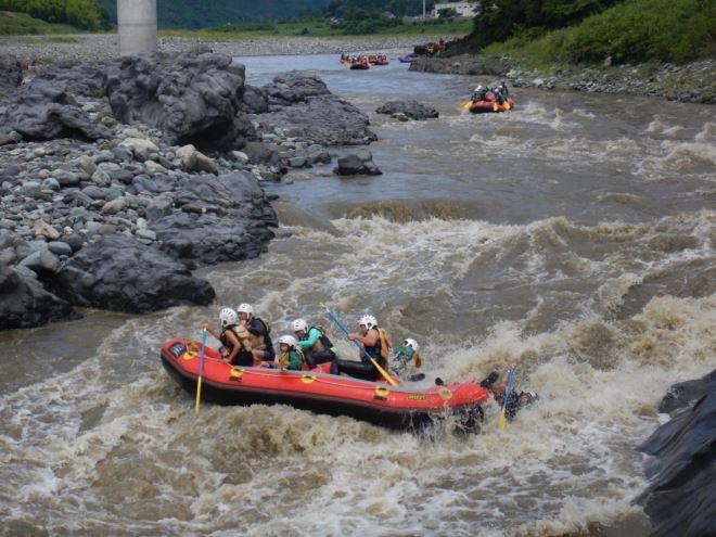 富士川増水 日本三大急流