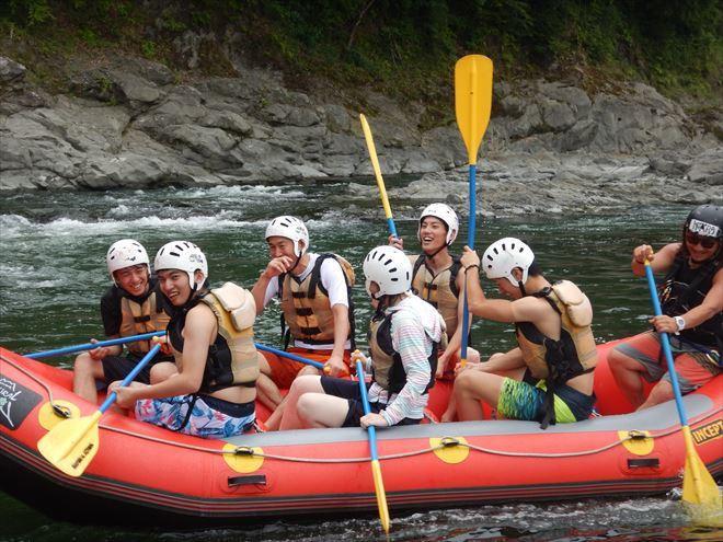 富士川で川遊び 日本三大急流