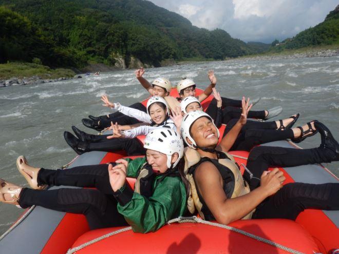 自然に癒される 急流富士川