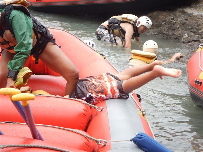ボートにはまる 富士川