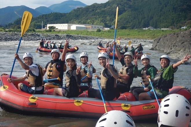 濁った川 富士川で遊ぶ