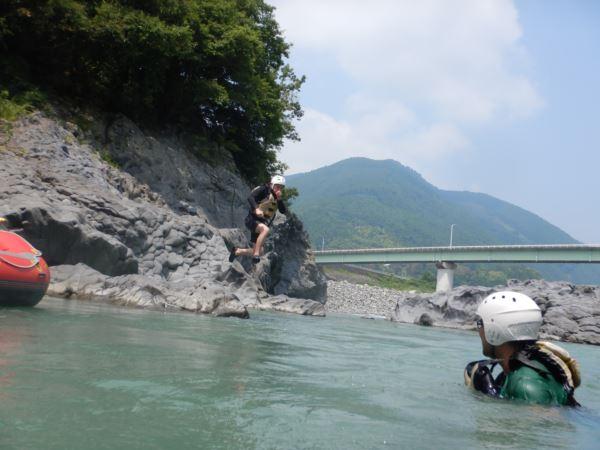 川遊び 富士川