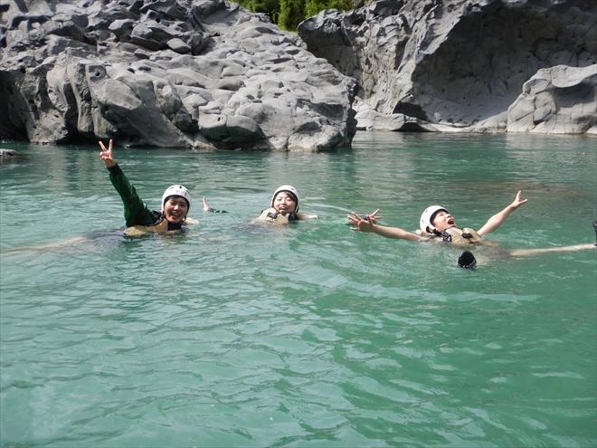 富士川 泳ぐ