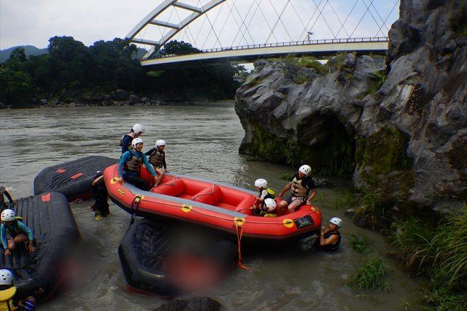 川でシーソー