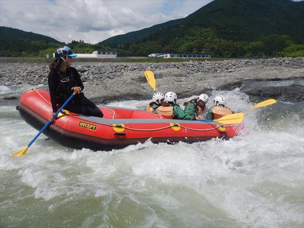 富士川ラフティング 川遊び サーフィン 富士山