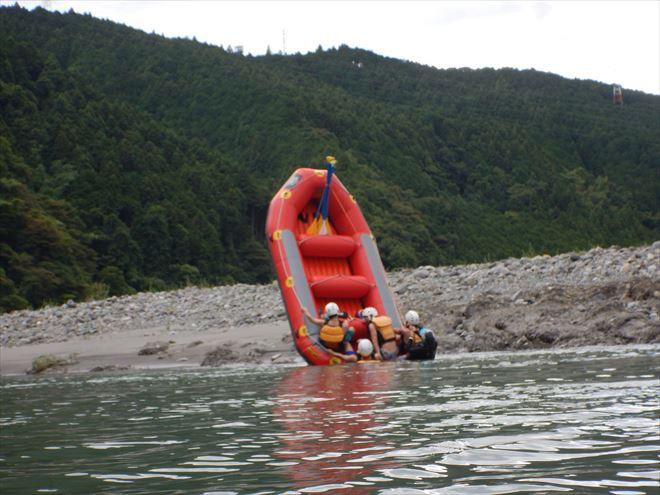 ボート遊び 半日ラフティング