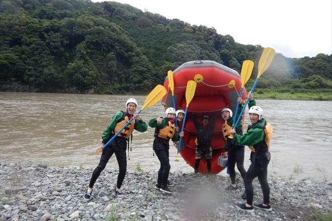 富士川 増水中