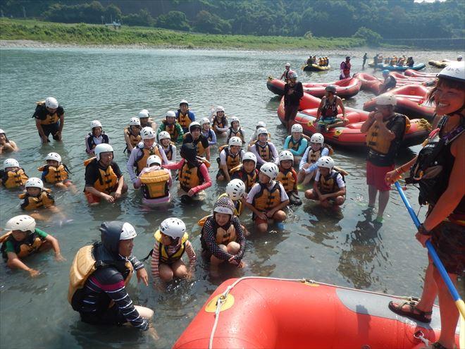 川泳ぎ 富士遊び