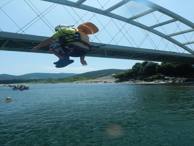 蓬莱橋 ジャンプ